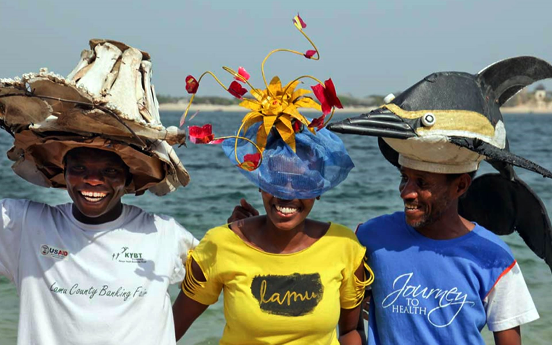 Construction workers at Shela have taken the art of hat making to another level. After years of exploring ingenious ways of shielding themselves from the scorching sun, they are now masters.
