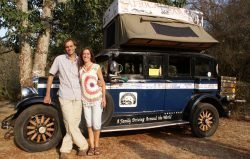 I recently talked to Herman Zapp and Candelaria when they were in Kenya and chatted with them about their amazing world travels with their kids in their 1928 Graham-Paige vintage car.