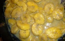 Plantain is a staple food across much of Africa. It is an especially popular food item in East Africa where Coconut milk is sometimes added.