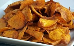 This spiced Sweet Potato Chips recipe revives old tastes in an ancient source of food to give an exciting new flavour ideal as a snack or appetizer.